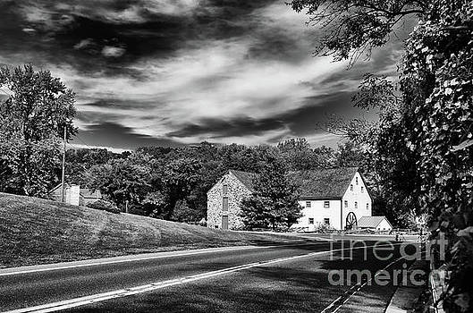 Greenbank Mill Summer Black and White Landscape Photo by Melissa Fague