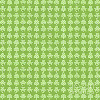 Greenery Shamrock Clover Polka dots St. Patrick's Day by PLdesign