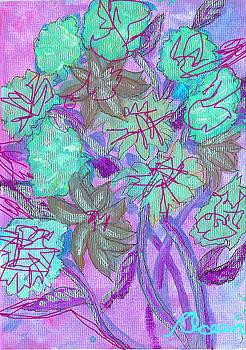 Greenish Flowers on Lavender by Ocean