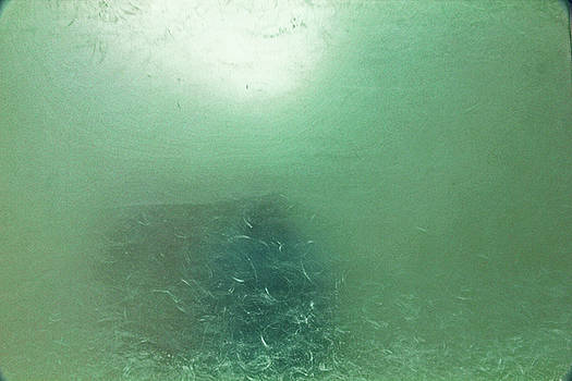 Greens, Blues, under the sea, looking through ice, up from the bottom 2 8282017 by David Frederick