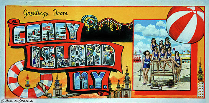 Bonnie siracusa artwork for sale great neck new york united greetings from coney island ny towel version too by bonnie siracusa m4hsunfo