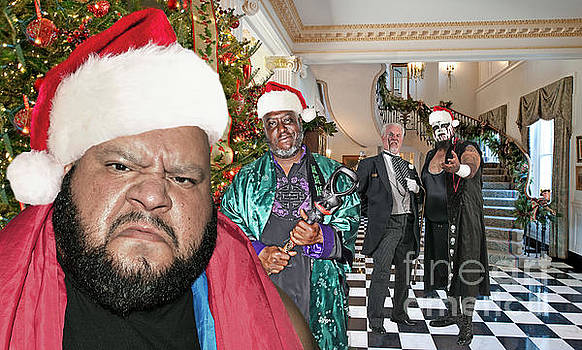 Greetings From Pro Wrestler Synn's Annual Christmas Party by Jim Fitzpatrick