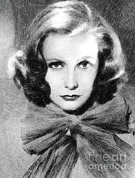 John Springfield - Greta Garbo, Vintage Actress by JS
