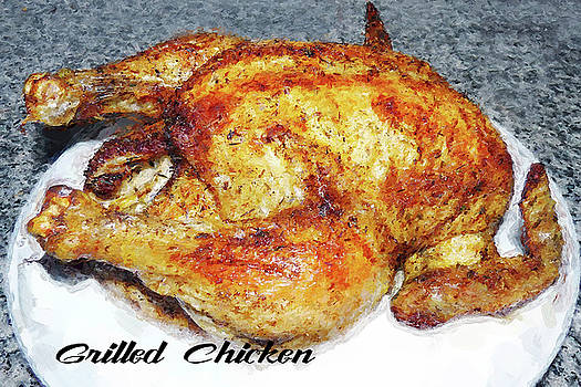 Grilled Chicken by MS  Fineart Creations