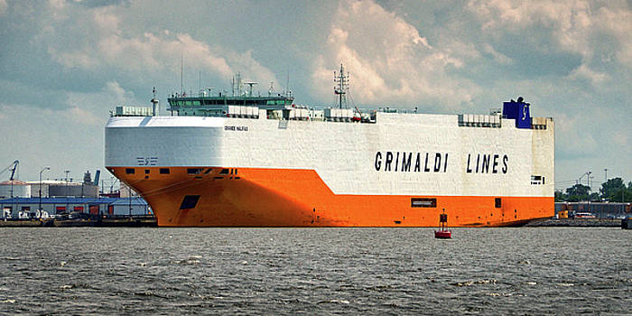 Grimaldi Lines Grande Halifax 9784051 at Curtis Bay by Bill Swartwout Fine Art Photography
