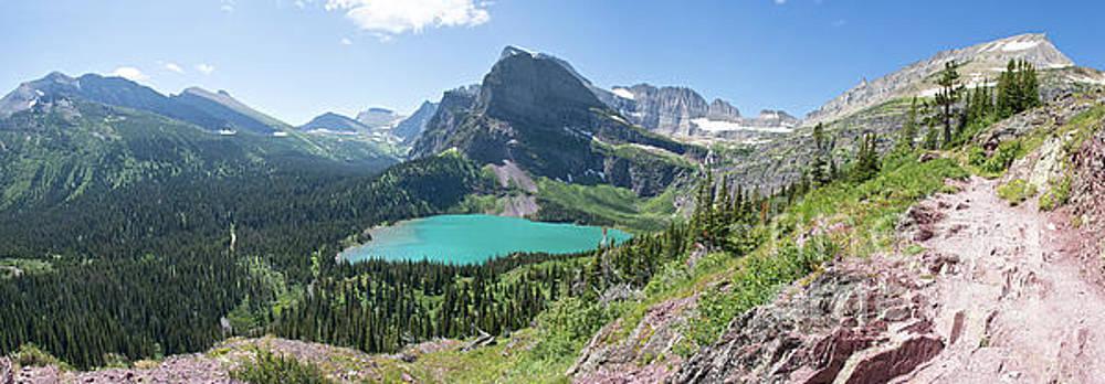 Grinnell Lake Panoramic - Glacier National Park by Jason Kolenda
