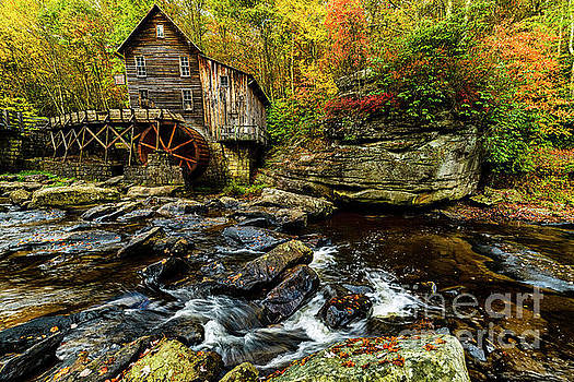 Grist Mill Fall Color by Thomas R Fletcher