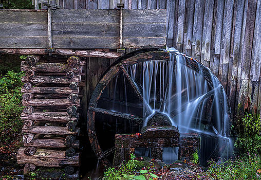 Grist Mill Wheel by Cathie Crow