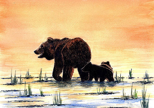 Grizzly Bears by Michael Vigliotti
