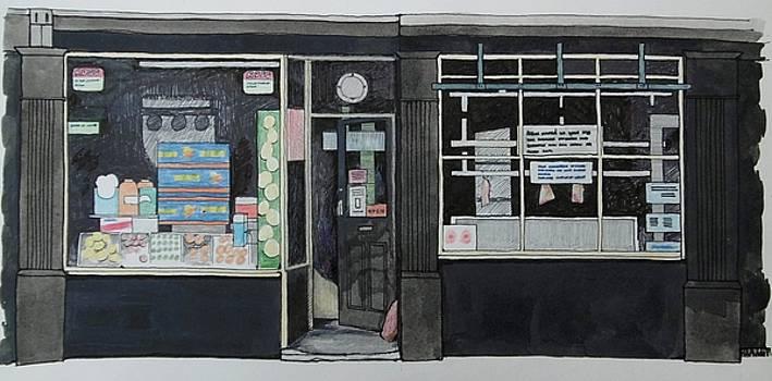 Grocer and Butcher in Buckley by Alwyn Dempster Jones