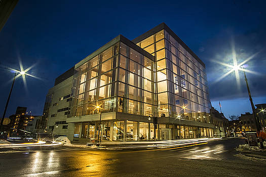 Groovy Modern Architecture one wintry night by Sven Brogren