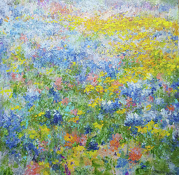 Ground Study - Texas Spring by Karen Vernon