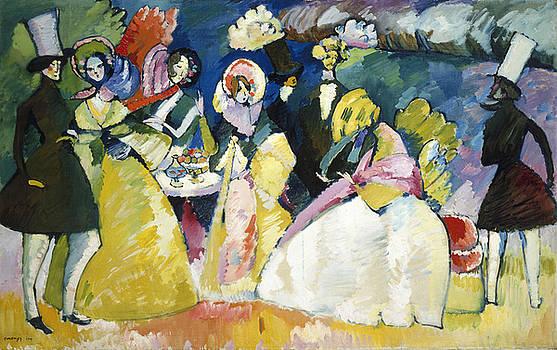 Group in Crinolines by Vassily Kandinsky
