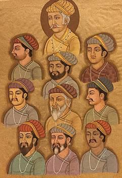 Group portrait of kings of India  by Priya Mogra