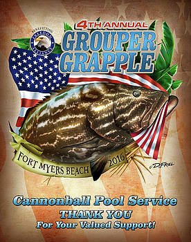 Grouper Grapple Sponsor Cannonball Pool Service by Dennis Friel