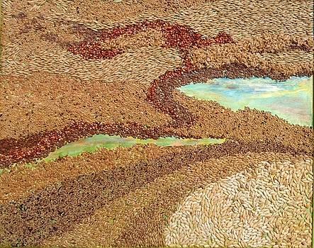 Grains Painting the Prairies IV by Naomi Gerrard