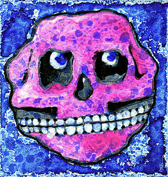 Grumbles, the Discontent Purple by Miko At The Love Art Shop
