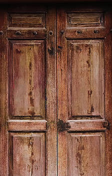Grunge Wooden Door by Prasert Chiangsakul