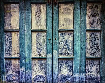 Grungy Graffiti Autographed Panes - NOLA by Kathleen K Parker