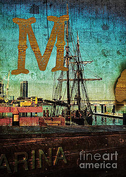 Beverly Claire Kaiya - Grungy Melbourne Australia Alphabet Series Letter M Marina Dockl