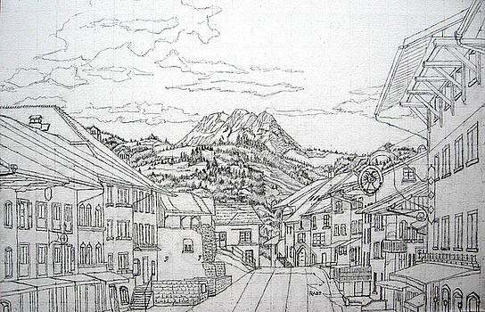 Gruyeres Switzerland by Mike Rabe