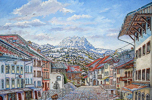 Gruyeres Switzerland - Swiss Alps Village by Mike Rabe
