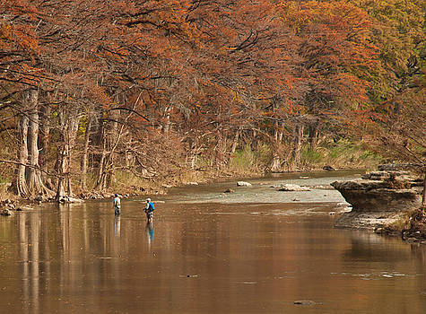 Guadalupe River Fly Fishing by Brian Kinney