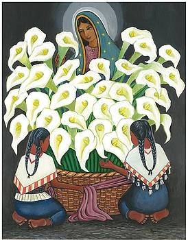 Guadalupe visits Diego Rivera by James Roderick