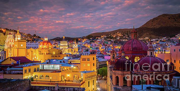 Guanajuato Twilight Panorama by Inge Johnsson