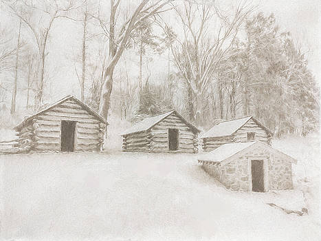 Guard Huts in the Snow by Jeff Oates Photography