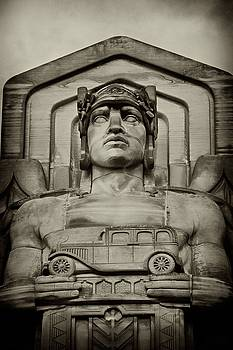 Guardian of Traffic Close Up by Rod Flauhaus