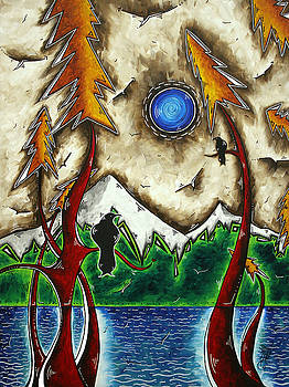 GUARDIANS OF THE WILD Original MADART Painting by Megan Duncanson