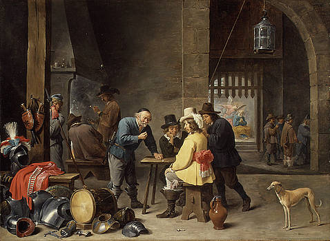 Guardroom with the Deliverance of Saint Peter by David Teniers
