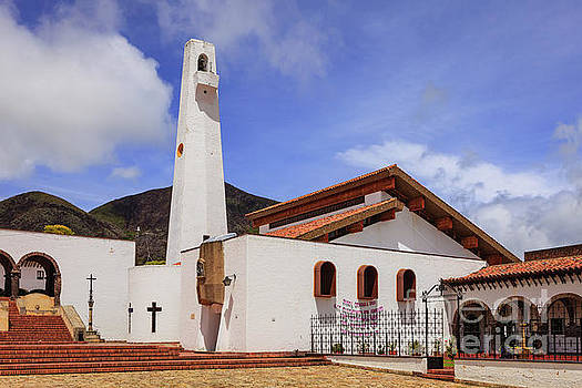 Guatavita, Colombia - Church on the Town Square by Devasahayam Chandra Dhas