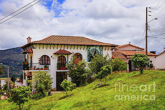 Guatavita, Colombia - colonial style Houses on hillside by Devasahayam Chandra Dhas