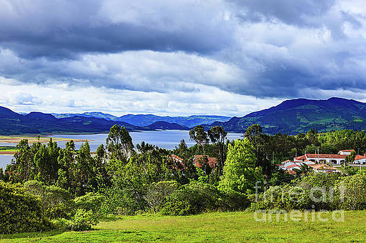 Guatavita on the Andes, Colombia - Looking Towards Embalse del Tomine by Devasahayam Chandra Dhas