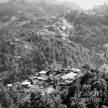 Guatemala Landscape Rural Village Black And White by Tim Hester