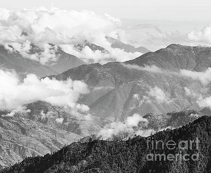 Tim Hester - Guatemala Mountain Landscape Black and White