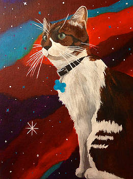 Guenhwyvar the Cat in Space by Ashley Baldwin