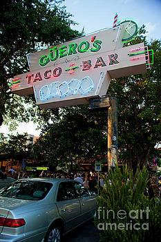 Herronstock Prints - Gueros Taco Bar Neon Sign on South Congress Avenue