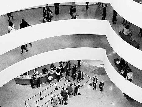 Guggenheim Interior B and W by Allan Einhorn