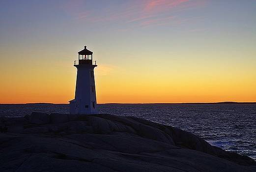 Peggy's Cove Lighthouse by Heather Vopni