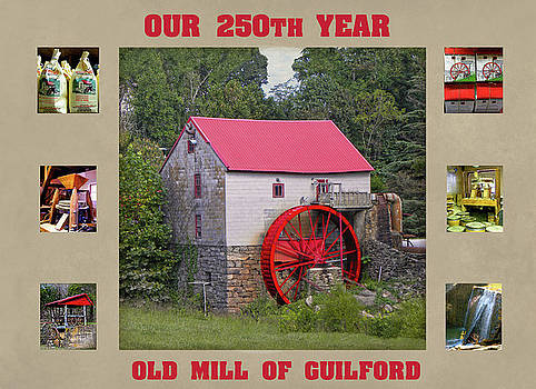 Guilford 250th Year Collage  by Sandi OReilly