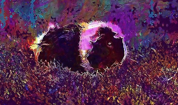 Guinea Pig Animal Rosette Cute  by PixBreak Art