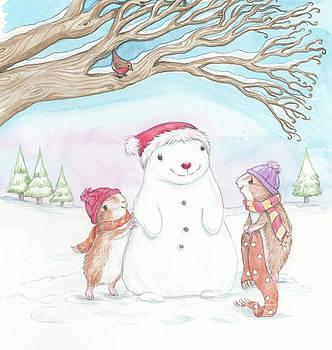 Joanna Scott - Guinea Pig Babies in the Snow