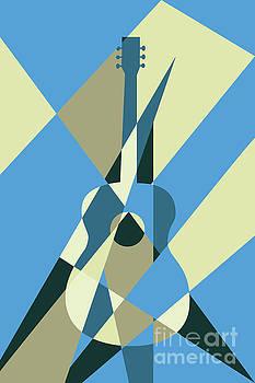 Benjamin Harte - guitar abstract blue