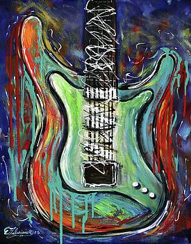 Guitar Abstract by Elena Feliciano