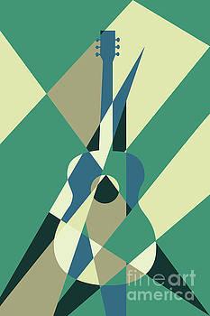Benjamin Harte - guitar abstract green