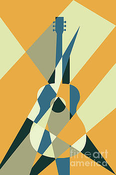 Benjamin Harte - guitar abstract orange