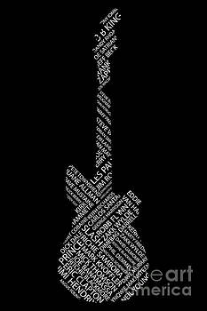 Guitar of Fame on black by Benjamin Harte